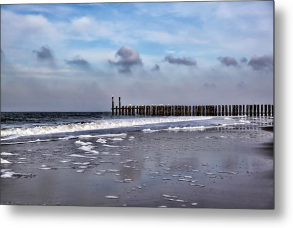 Wave Breakers Metal Print