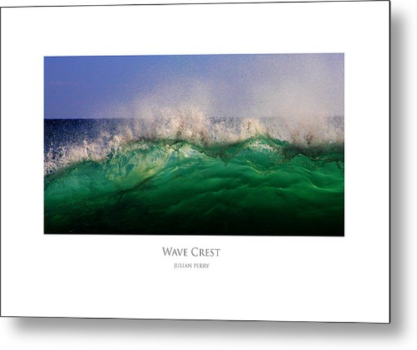 Metal Print featuring the digital art Wave Crest by Julian Perry