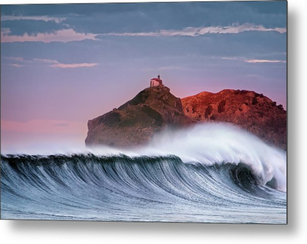 Wave In Bakio Metal Print