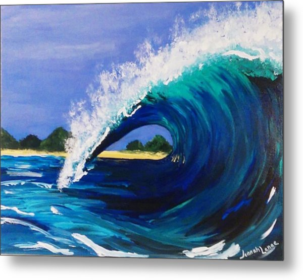 Metal Print featuring the painting Wave  by Jennah Lenae