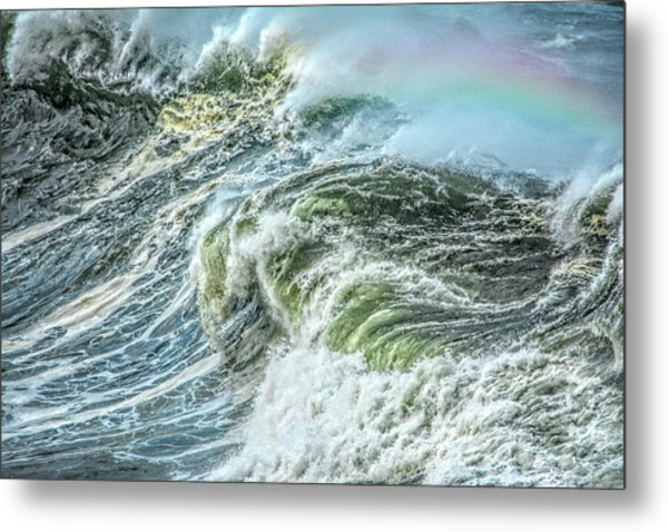 Wave Rainbow Metal Print