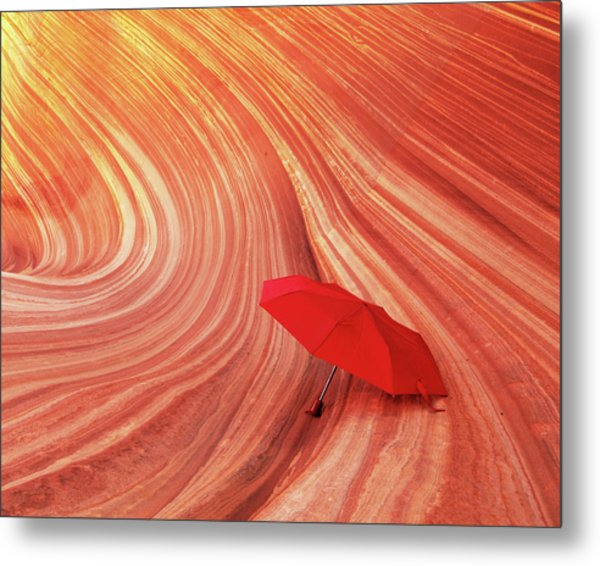 Metal Print featuring the photograph Wave Umbrella by Norman Hall