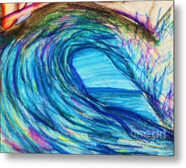 Wave Variation Metal Print by Jamey Balester