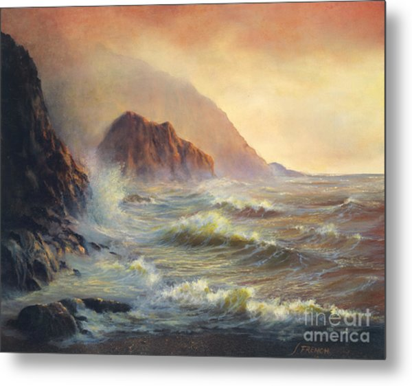 Waves After The Storm Metal Print