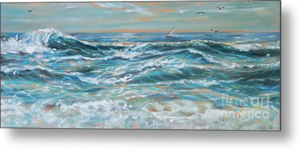 Waves And Wind Metal Print