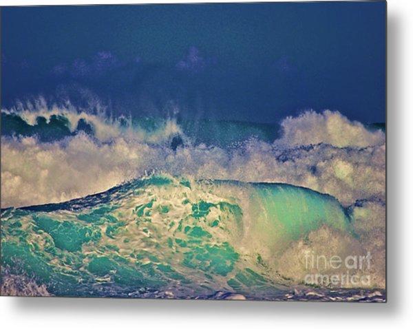 Waves Breaking Metal Print