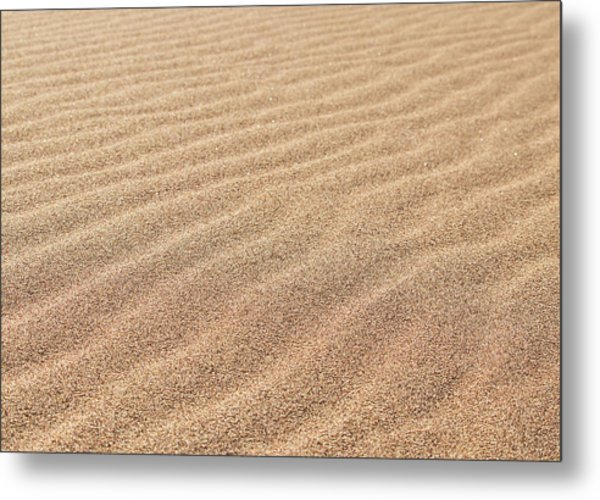 Waves In The Sand Metal Print