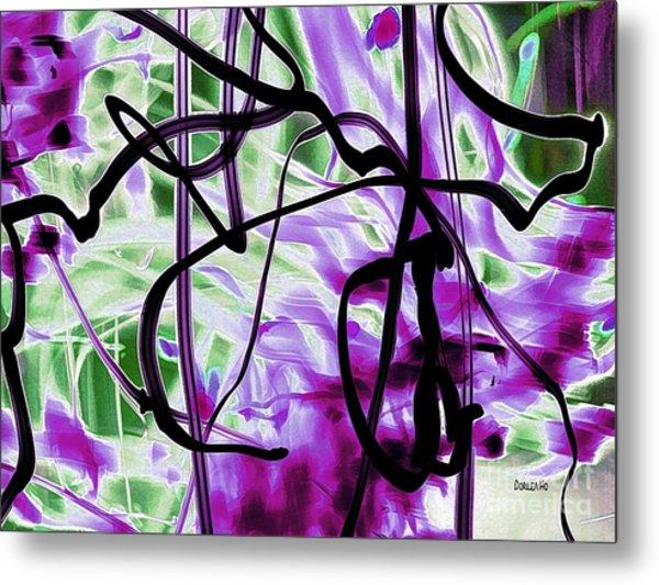 Waves Of Purple Metal Print