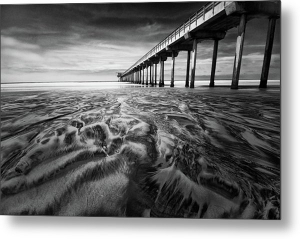 Waves Of Sand Metal Print
