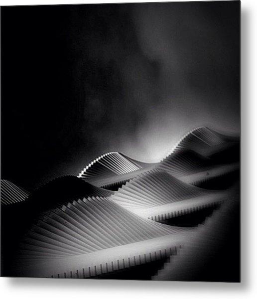 Waves Of Steel - Concrete Jungle Metal Print by Robbert Ter Weijden