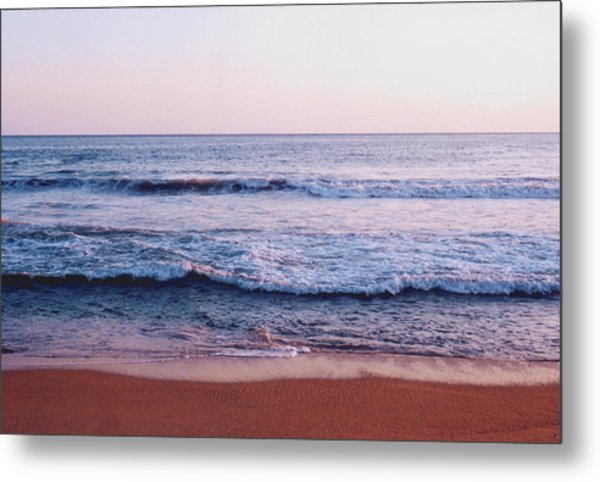 Waves On The Beach 2 Metal Print by Lyle Crump