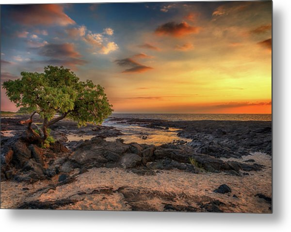 Metal Print featuring the photograph Wawaloli Beach Sunset by Susan Rissi Tregoning