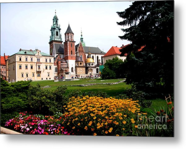 Wawel Cathedral In Krakow Metal Print by Jacqueline M Lewis