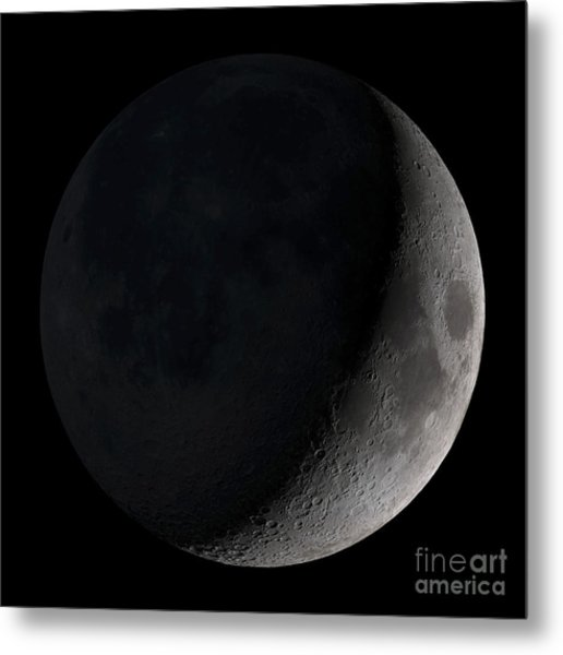 Waxing Crescent Moon Metal Print