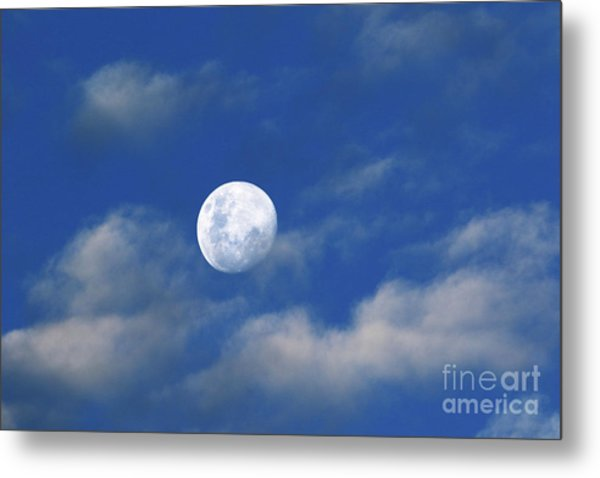 Waxing Gibbous Moon Skyscape Metal Print
