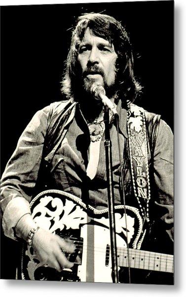 Waylon Jennings In Concert, C. 1976 Metal Print