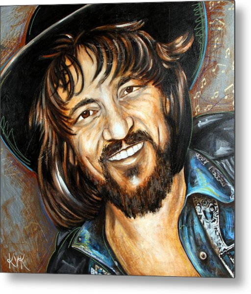 Waylon Jennings Metal Print