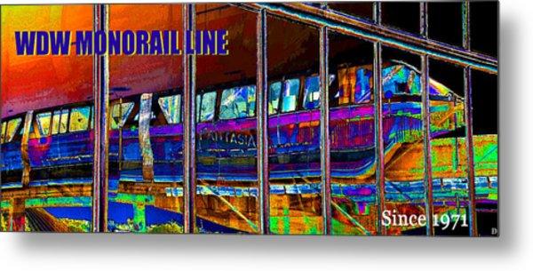 Wdw Monorail Line  Metal Print