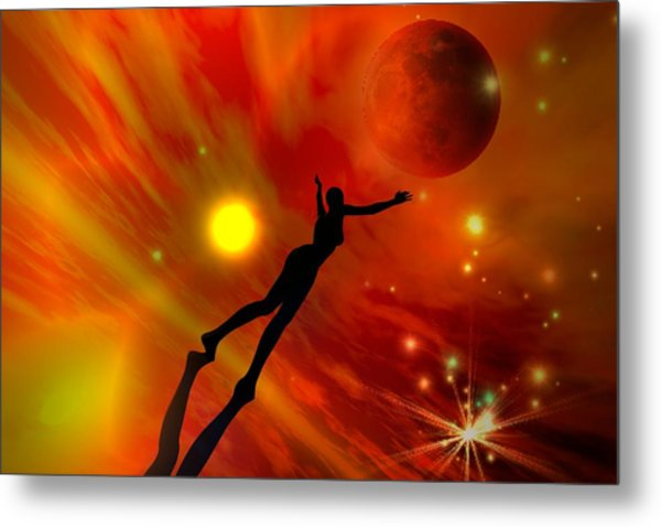 We All Shine On Like The Moon And The Stars And The Sun Metal Print by Shadowlea Is
