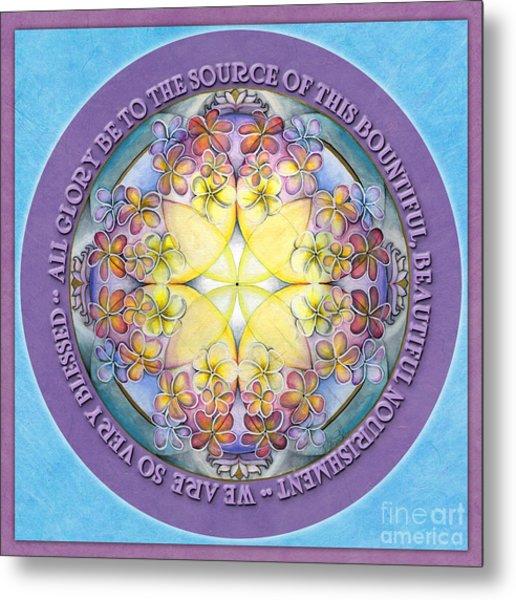 We Are Blessed Mandala Prayer Metal Print