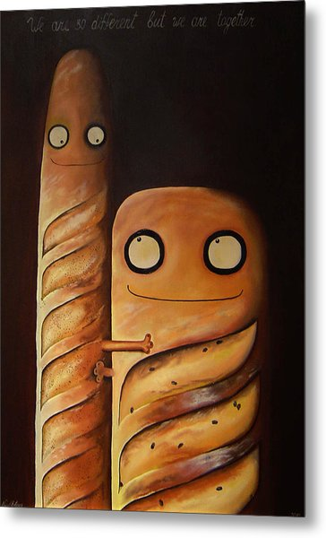 We Are So Different But We Are Together Metal Print by Anastassia Neislotova