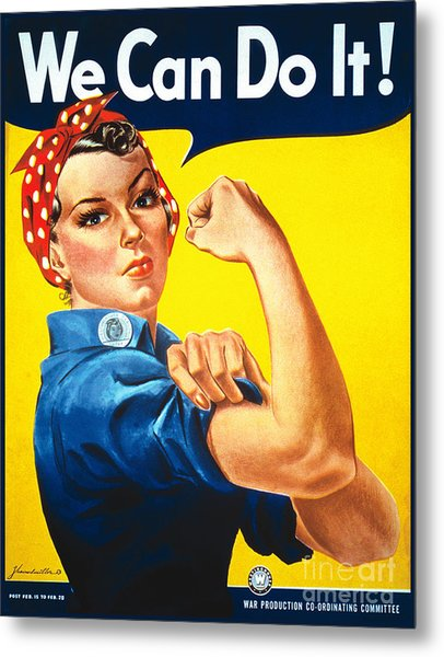 We Can Do It Rosie The Riveter Poster Metal Print