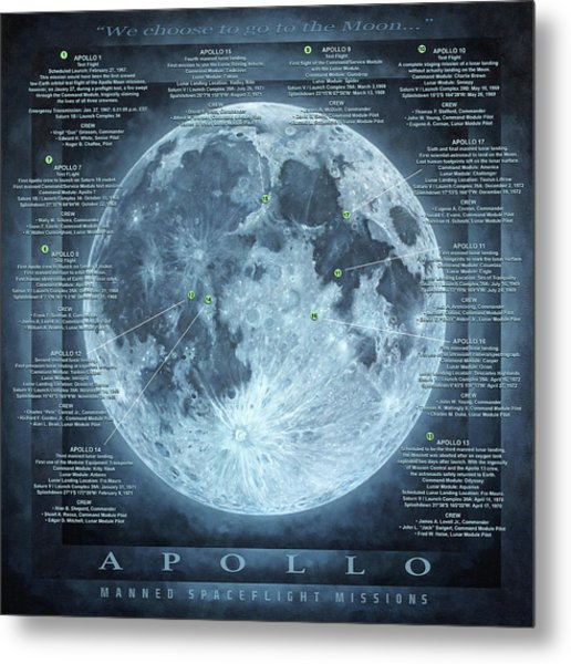 We Choose To Go To The Moon Metal Print