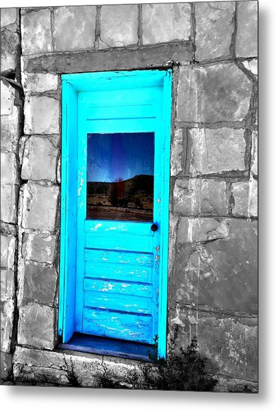 Weathered Blue Metal Print