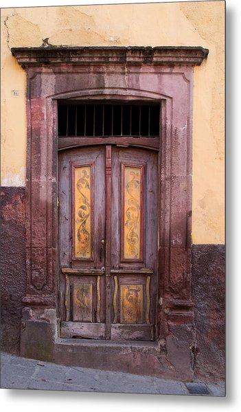 Weathered Door Metal Print