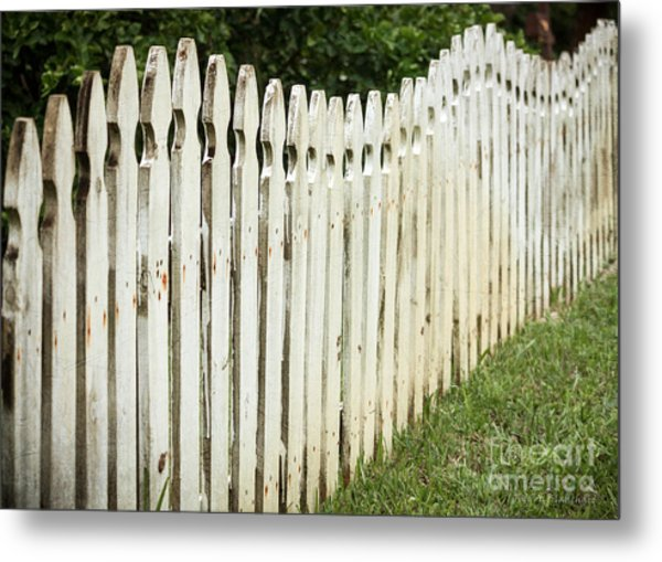 Weathered Fence Metal Print