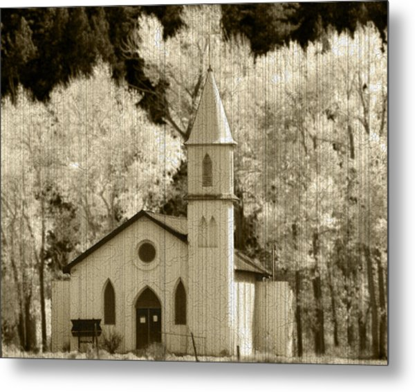 Weathered House Of Worship Metal Print