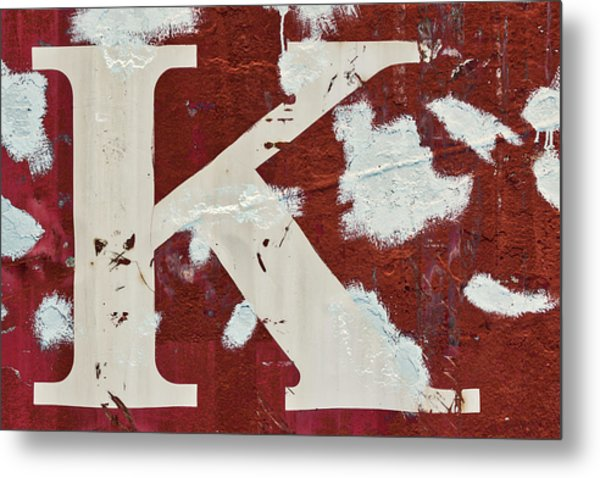 Weathered Letter K Metal Print