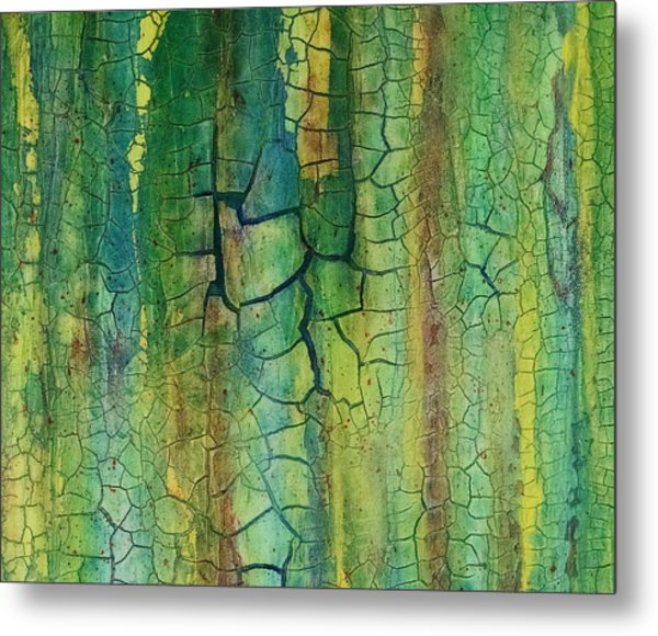 Weathered Moss Metal Print
