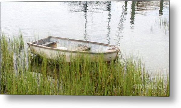 Weathered Old Skiff - The Outer Banks Of North Carolina Metal Print