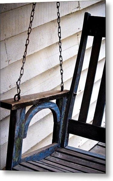 Weathered Porch Swing Metal Print