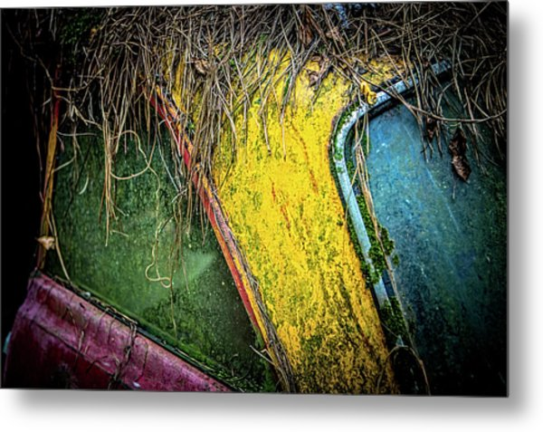 Weathered Vehicle Metal Print