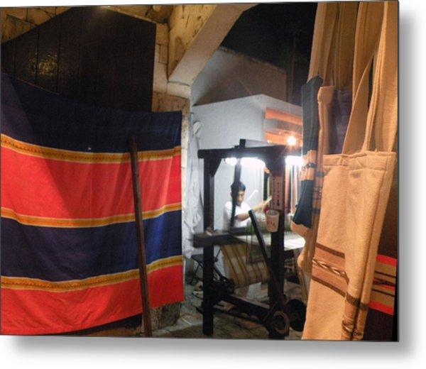 Weaver In Playa Del Carmen Metal Print