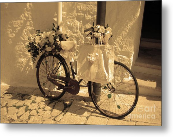 Wedding Bike Metal Print