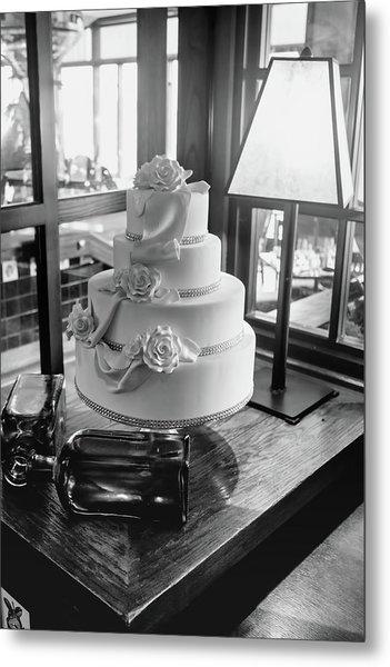 Wedding Cake Bw Series 0956 Metal Print