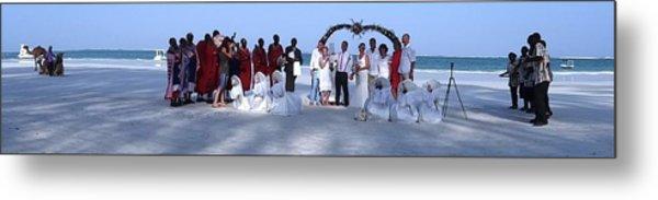 Wedding Complete Panoramic Kenya Beach Metal Print