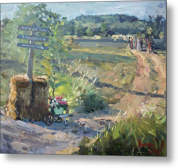 Wedding In The Farm Grorgetown  Metal Print