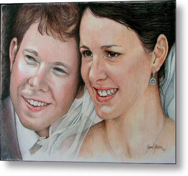Wedding Portrait Metal Print