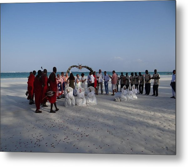 wedding with Maasai singers Metal Print