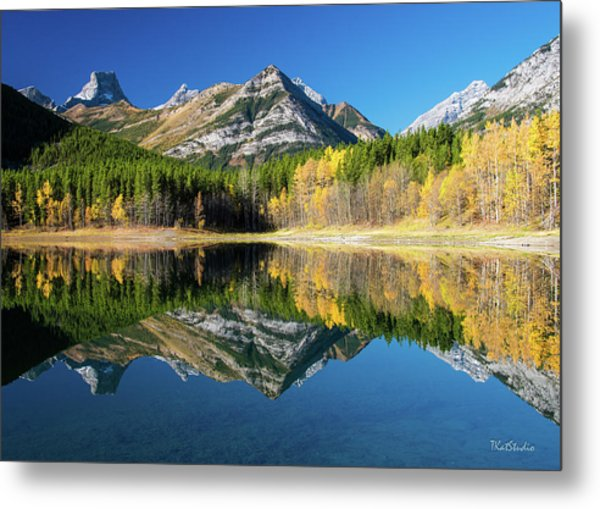 Wedge Pond Color Metal Print