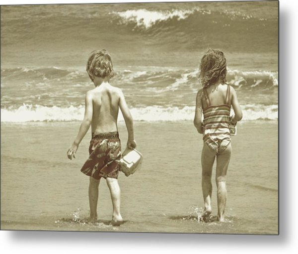 Wee Beachcombers Metal Print by JAMART Photography
