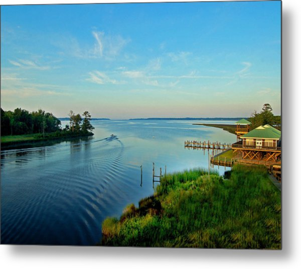 Weeks Bay Going Fishing Metal Print