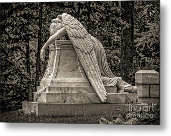 Weeping Angel - Sepia Metal Print
