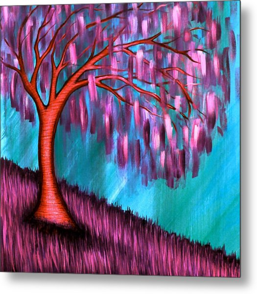 Weeping Willow II Metal Print by Brenda Higginson