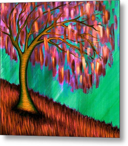 Weeping Willow IIi Metal Print by Brenda Higginson