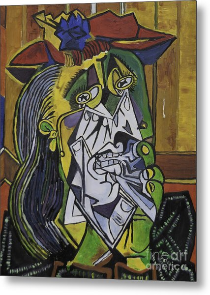 Picasso's Weeping Woman Metal Print